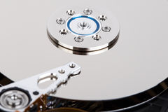 Inside of hard drive Royalty Free Stock Photos