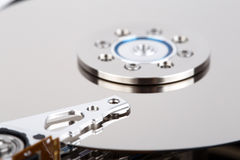 Inside of hard drive Stock Photo