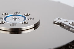 Inside of hard drive Stock Image
