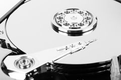 Inside hard drive Royalty Free Stock Photography
