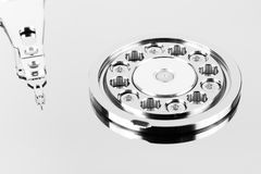 Inside hard drive Stock Photo