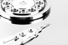 Inside hard drive Stock Photos