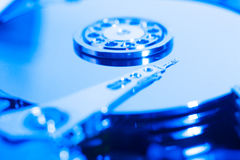 Inside hard drive Stock Image