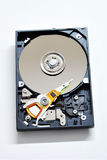Inside Harddrive 1. View inside harddrive data storage Stock Photography