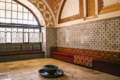 Inside the harem in Topkapi, Istanbul stock photos