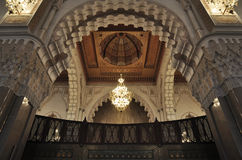 Inside of the Hassan II Mosque in Casablanca Stock Photo
