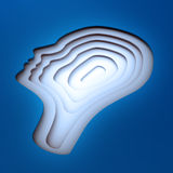 Inside a head silhouette. Psychology concept Royalty Free Stock Photos