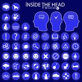 Inside The Heads. 50 icon set. vector illustration