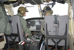 Inside the helicopter 1# Stock Image