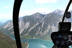 Inside Helicopter Royalty Free Stock Photo