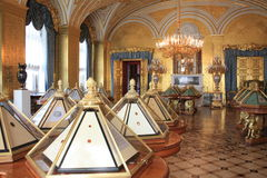 Inside the Hermitage in Saint-Petersburg Royalty Free Stock Photo