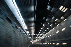 Inside a Highway Tunnel, Italy Royalty Free Stock Photography