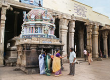 Inside Hindu temple Royalty Free Stock Images