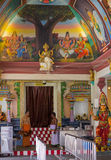 Inside the hindu temple. The interior of famous hindu Temple in Singapore Stock Image