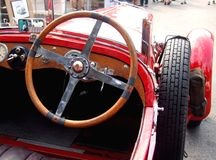 Inside of historic czech car, Wikov Royalty Free Stock Images