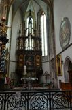 Inside an historic and famous church in Prague Royalty Free Stock Photography