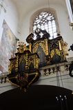 Inside an historic and famous church in Prague Royalty Free Stock Images