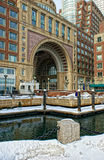 Inside historic rowes wharf in boston Royalty Free Stock Photo