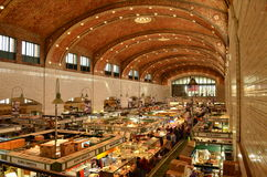 Inside the historic West Side Market in Cleveland Stock Images