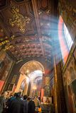 Inside the historical building of The Armenian Cathedral Stock Photos