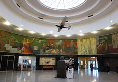 Inside of the Historical Marine Air Terminal at La Guardia Airport in New York Stock Photography
