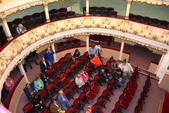 Inside the historical theater of Oravita Royalty Free Stock Photography