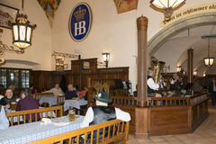 Inside Hofbrauhaus Munich Stock Images