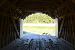 Inside Hogback 2. Looking through the Hogback Covered Bridge, Winterset, Madison County, Iowa Royalty Free Stock Photography