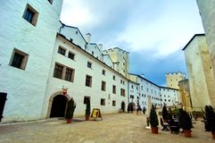Inside Hohensalzburg Castle royalty free stock photo