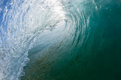 Inside Hollow Ocean Blue Wave Crashing Swimming Royalty Free Stock Photography