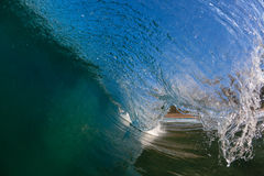 Inside Hollow Ocean Wave  Stock Photo