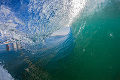Inside Hollow Wave Swim Photo Royalty Free Stock Images
