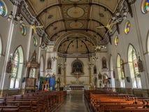 Inside of Holy Rosary church in Bangkok Stock Photos