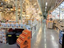 Inside Home Depot Stock Photo