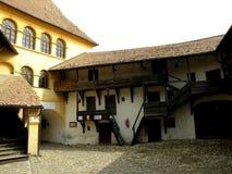 Inside Honigberg (Harman) fortified church Stock Photo