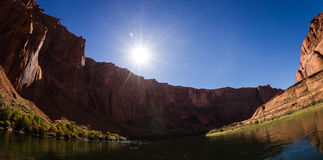 Inside horse shoe bend Royalty Free Stock Photography