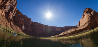 Inside horse shoe bend Stock Photography