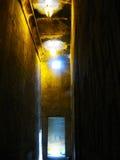 Inside Horus Temple at Edfu Stock Images