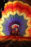 Inside hot air balloon Stock Images