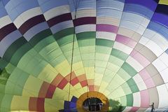 Inside a hot air balloon Royalty Free Stock Photo
