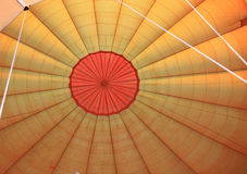 Inside a hot air balloon Stock Photo