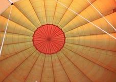 Inside a hot air balloon Stock Photo