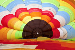 Inside of a hot air balloon at the beginning of inflating Stock Photo