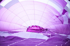 Inside of a hot air balloon Royalty Free Stock Photos