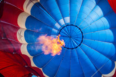 Inside of a hot air balloon with flame Royalty Free Stock Photography