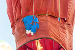 Inside of a hot air balloon with flame Stock Photography