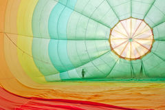 Inside hot air balloon Royalty Free Stock Photography