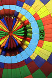 Inside a hot air balloon Stock Image