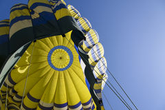 Inside a Hot Air Balloon Looking up in Napa valley California Royalty Free Stock Image