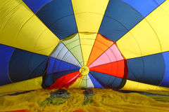Inside hot air balloon Royalty Free Stock Photo